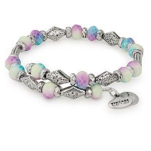 Alex @ Ani wrap beaded bracelet